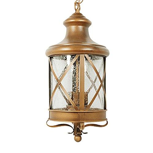 eTopLighting Lux Collection Exterior Outdoor Lantern Light with Rain Glass, Pendant Light - Lantern Large Pendant
