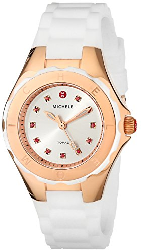 MICHELE Women's MWW12P000003 Jellybean Analog Display Analog Quartz Rose Gold Watch - Michele Tahitian Jelly Bean