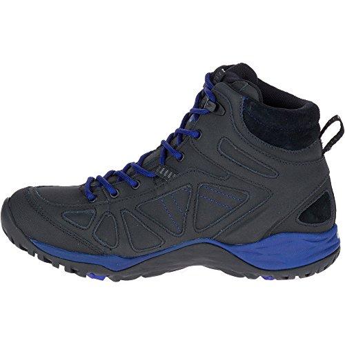 Merrell Womens/Ladies Siren Q2 Mid Waterproof Walking Hiking Boots Black/Mazarine Blue