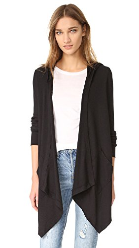 splendid-womens-thermal-wrap-hooded-cardigan-black-medium