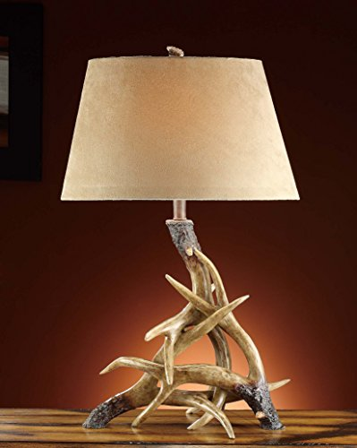 Crestview Collection CVATP533 Antler Table Lamp - Faux Antler Table