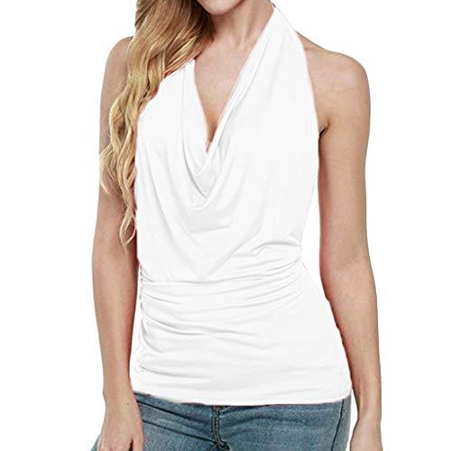 [해외]HIRIRI 여자 탑 레이스 바디 슈트가 중 조끼 고삐 최고 소매 없는 셔츠 느슨한 블라우스 / HIRIRI Womens Tops Lace Bodysuit Weighted Vest Halter Top Sleeveless Shirts Loose Blouses