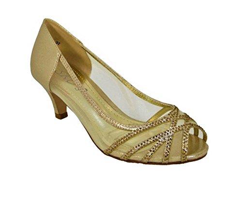 Sintético Para 913 Material Vestir de Sandalias SKO'S 98 de Mujer Gold 1TpUqXx4
