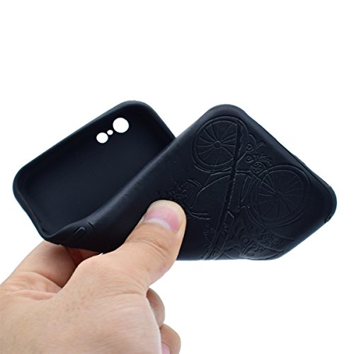 """inShang iPhone 7 4.7"""" Funda y Carcasa para iPhone 7 4.7 inch case iPhone7 4.7 inch móvil,Ultra delgado y ligero Material de TPU,carcasa posterior (Back case) con , + clase alta 2 in 1 inShang marca ne Black tower"""