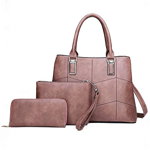 Magai color Les À Pink Pièces Diagonal Main Sac Paquet Pour Sacs Femmes Brown Trois Bandoulière rS7AxrqwF