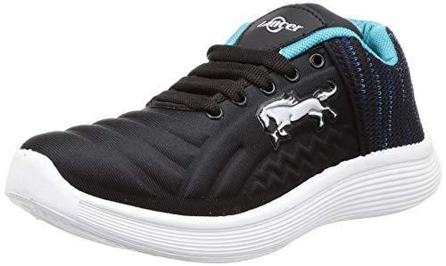 Lancer Men's Black Hiking Shoes-8 UK (42 EU) (AIR-3BLK-SGRN-8)