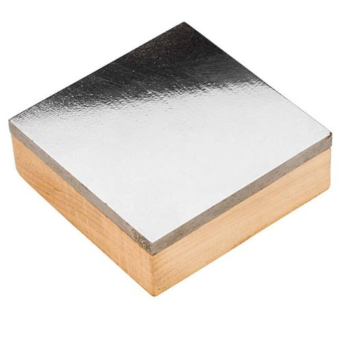 Beadaholique XTL-0264 1 Piece Dual Utility Anvil Steel Block with Wood Base, 3 x 3""
