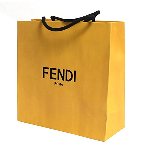 Fendi Womens Tote (Fendi Shopping Tote Bag Designer Set of 5 Gift Bags Small, Off-White)