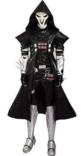 Mtxc Men's Cosplay Reaper Costume Full Set Size Medium Black ()