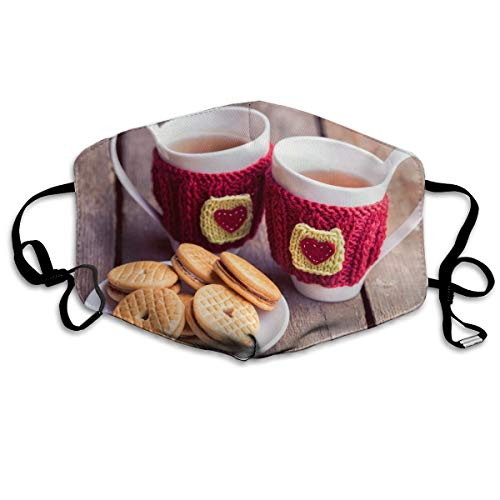 Mouth-Muffle Face Mask Unisex Biscuits Tea Adjustable Washable Anti-dust Woman Mens -