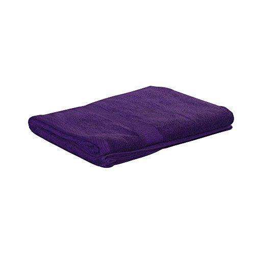 King Size Loop Terry Beach Towel, Purple, 35