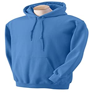 Gildan G125 DryBlend Adult Hooded Sweatshirt, Carolina Blue, Large