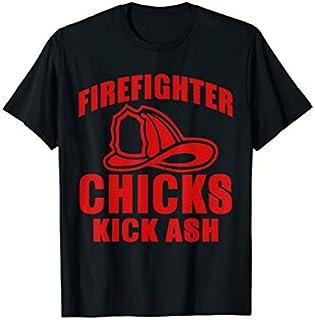 ⭐️⭐️⭐️ Firefighter Chicks Kick Ash Funny Tee firefighter t shirt Need Funny Short/Long Sleeve Shirt/Hoodie