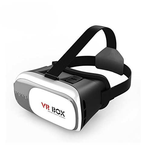 TrendBox White VR Virtual Reality Box 3D Glasses Headset Adjustable Portable Games Animation Video Smartphone Wireless For Google IOS SAMSUNG iPhone