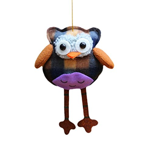 SUPPION Owl Decoration Home Party Christmas Christmas Tree Ornaments Hanging (A) (2ft Optic Tree Christmas Fibre)