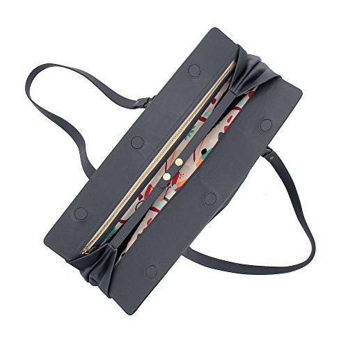 cuir ajustables avec fermeture Gris en magnétique capacité poignées Sac grande pour et souple DUDU bandoulière Élégant à femme xwPqgZOC8n