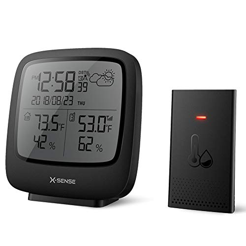X-Sense Wireless Weather Station with Large Backlit LCD, Atomic Clock