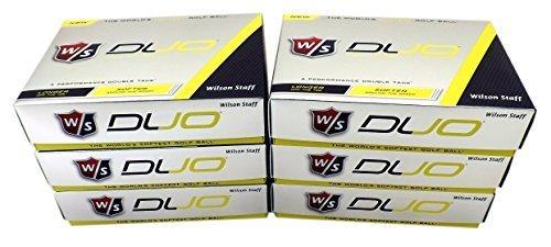 Wilson Staff DUO Golf Balls, 6 -Dozen, 72 Balls - Yellow