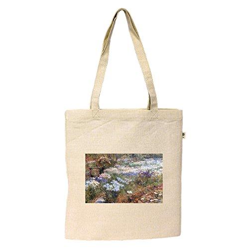 The Water Garden (Hassam) Hemp/Cotton Flat Market Bag - Shopping Watergardens