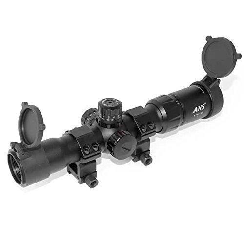 ANS Optical 1.5-4×30 CQB ミルドットイルミネーテッドショートズーム ライフルスコープ ミドルマウントセット sc-016-E02 B06XBR3KX9
