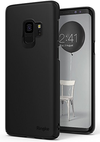 Ringke [Slim Series] Compatible with Galaxy S9 Case Dazzling Slender [Laser Precision Cutouts] Fashionable & Classy Superior Steadfast Bolstered PC Hard Cover Galaxy S9 (2018) - SF Black