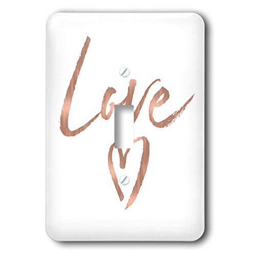 3dRose lsp_271037_1 Picturing Rose Gold Love Heart Toggle Switch, Mixed