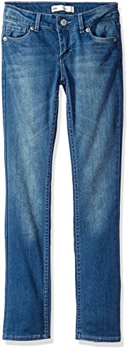 Levi's Girls' 711 Skinny Fit Jeans , Blue Winds, 10 by Levi's