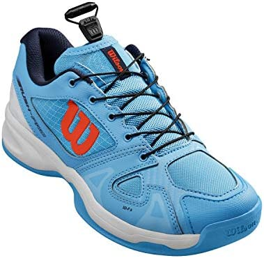 Wilson Women's Tennis Shoes, KAOS 3.0 W, Turquoise/Blue/White, Size 7.5, For All Surfaces, All Types of Player, WRS326150E075