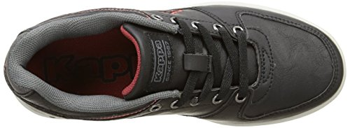 Kappa Ussel Low - Zapatillas de deporte Unisex Niños Negro - Noir (Black/Dk Red)