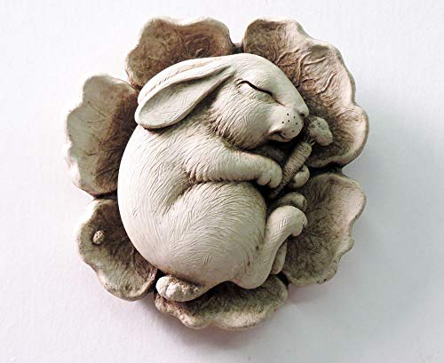 Stone Cast Plaque - Sleeping Baby Bunny Napping Rabbit 5