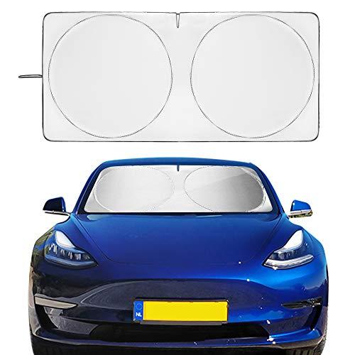 AUTOPRE MODIFY Windshield Sunshade for Tesla Model 3 2018-2019 UV Ray and Sun Protection Heat Reflector Original Custom-fit Cover