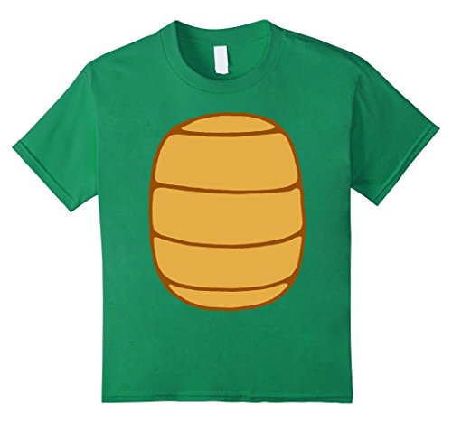 Teenage Girl Diy Costumes (Kids Turtle Shell Shirt KIDS DIY Halloween Costume FRONT + BACK! 6 Kelly Green)