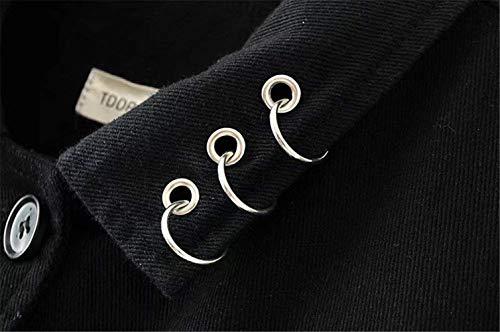 Giovane Outerwear Cappotto Moda Autunno Maniche Jeans Donna Fiori Eleganti Vintage Relaxed Ricamo Bavero Schwarz Nero Women Casual Lunghe Giacca azpqn