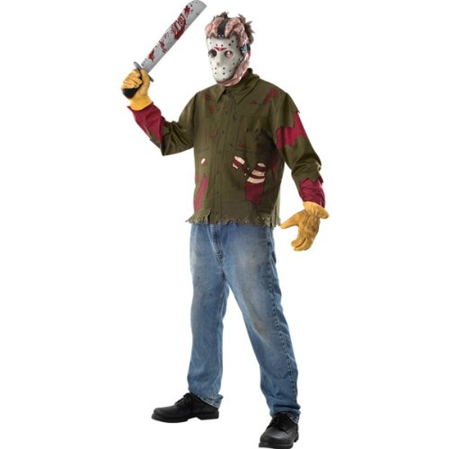 Friday The 13th Jason Voorhees Adult Costume Size: Standard (Up To Size (Best Jason Costume)