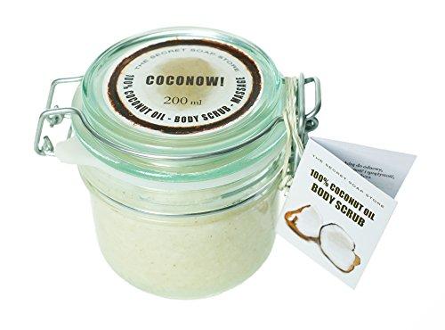 Körperpeeling (Zucker-Peeling) mit Kokosöl und Kokosnussschale (200 ml).
