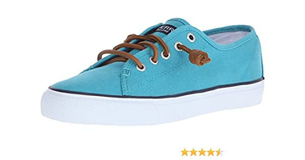 32333576f81b21 Amazon.com | Sperry Top-Sider Seacoast Canvas Sneaker Women 5 Teal ...