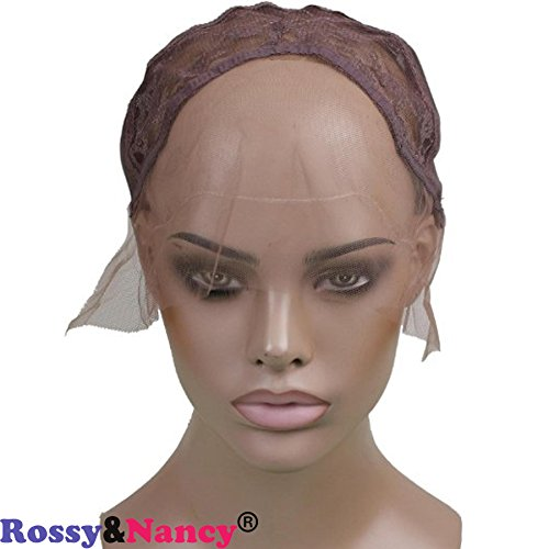 Rossy&Nancy French Best Kind of Lace Front Wig Weaving Medium Brown Cap with adjustable Strap for Making Wigs