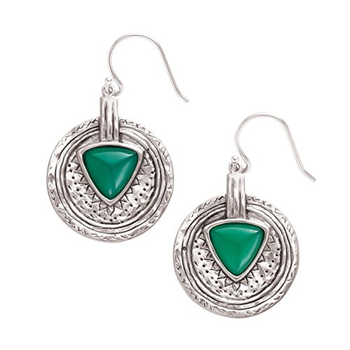 Silpada-Emerald-Isle-Sterling-Silver-and-Agate-Drop-Earrings