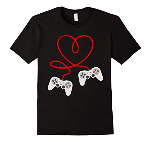 Video Gamer Valentines Day T-Shirt With Controllers Heart]()