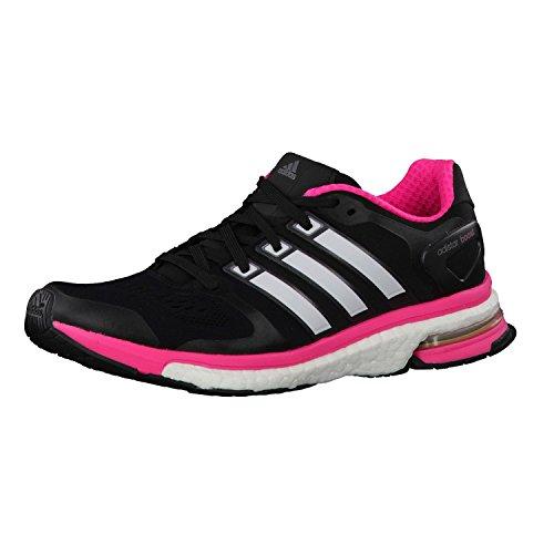 adidas Damen Laufschuhe adiSTAR Boost W 36 Black/Zero Met/Neon Pink