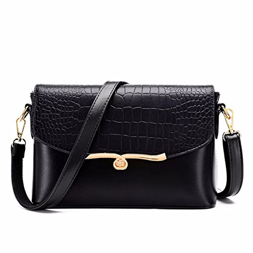 Bolsa bandolera bolsa femenina señoras bolso simple, oro Negro