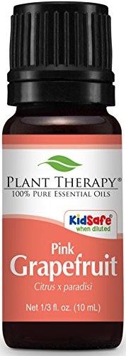 Plant Therapy Grapefruit Pink Essential Oil 10 mL (1/3 oz) 100% Pure, Undiluted, Therapeutic Grade (Essential Pure Grapefruit Organic Oil)