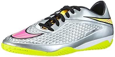Nike Men's Hypervenom Phelon II NJR IC Soccer Shoe (Chrome/Hyper Pink-Mtlc Gld Cn, 9)