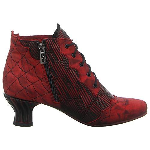 Simen Women kombi 0777a Red Ankle rot Boots kombi Rot USqUOP6w