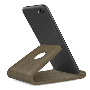 Wooden Cell Phone Stand, Wood Smartphone Holder for iPhone X/8/8 ...