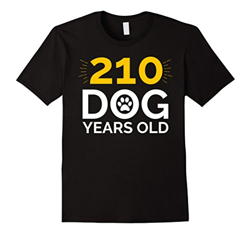 Mens 30th Birthday Gift Shirt, Funny 210 Dog Years Old T-Shirt XL Black (Birthday Gifts For 30 Year Old Men)