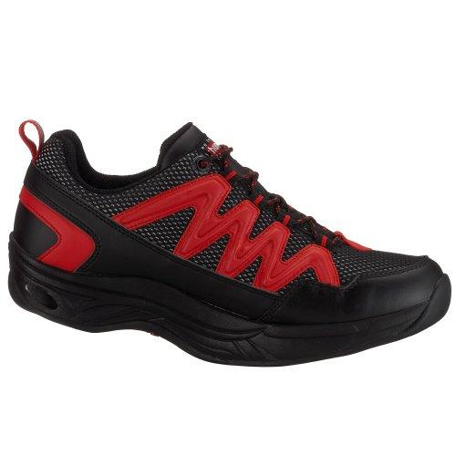 Chung Shi - Zapatillas de deporte para hombre Negro (Negro/Rojo)