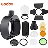 Godox AK-R1 Round Head Accessories Kit & Godox S-R1 Flash Head Adapter   Compatible for Godox V860II TT685 TT600 and Canon Nikon Sony Camera Flash Speedlight