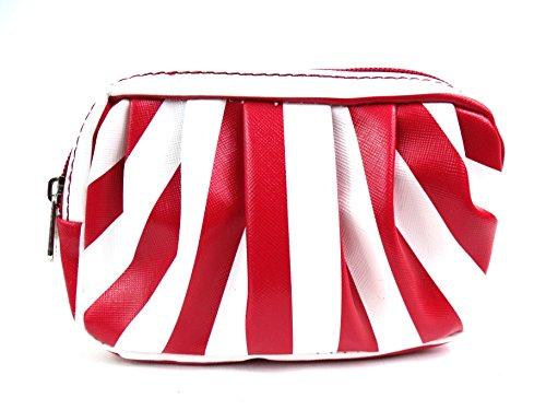 Emporium Leather - Cartera de mano para mujer Rot & Weiß