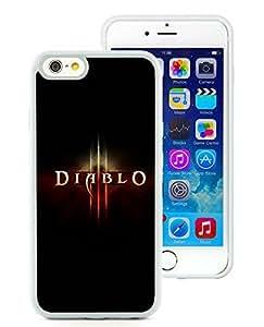 Special Custom iPhone 6 Case Diablo III Logo White Personalized Picture iPhone 6 4.7 Inch TPU Phone Case
